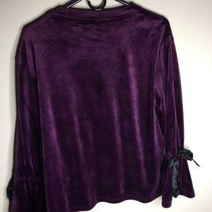 Purple philosophy velvet shirt